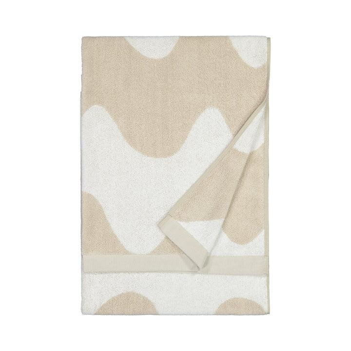 De Lokki badhanddoek van Marimekko in beige / wit