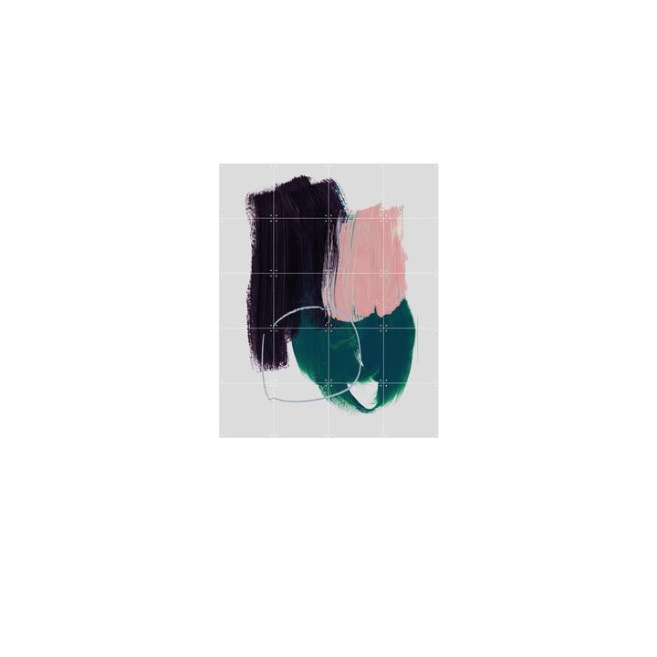 Abstracte luchtpenseelstreken 10 Muurschildering door IXXI