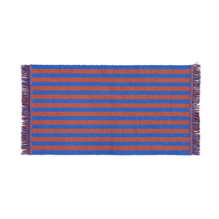 Stripes Deurmat, 52 x 95 cm, cacao sky van Hay