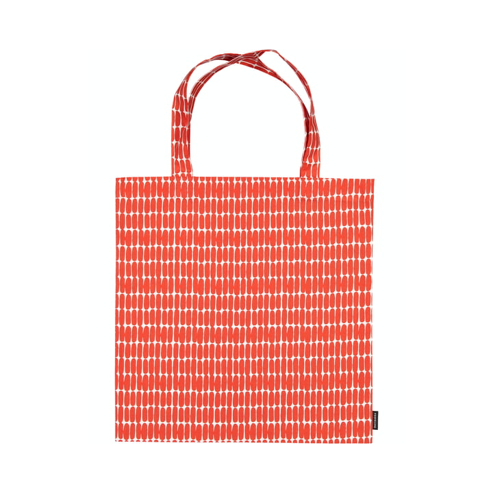 De Alku boodschappentas van Marimekko, wit / rood
