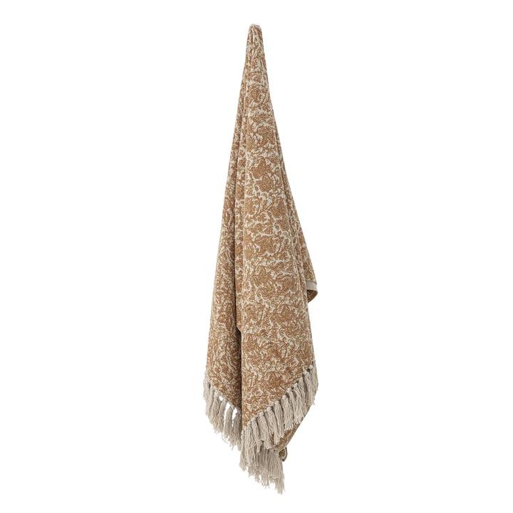 De deken Cianna van Bloomingville , 130 x 160 cm, bruin