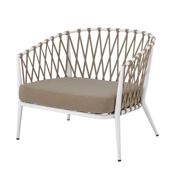 Cia Lounge Chair Outdoor van Bloomingville in wit / bruin