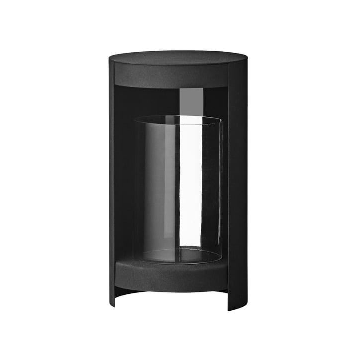 De Ora Windlicht van AYTM , Ø 15,5 x H 28,2 cm, zwart