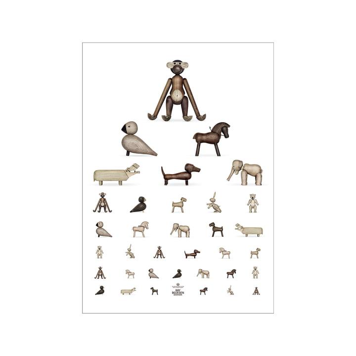 Oogtest poster, 30 x 40 cm, bruin / wit van Kay Bojesen
