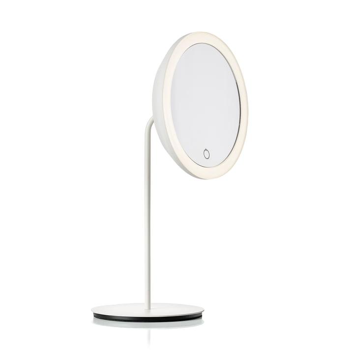 Cosmeticaspiegel met 5x vergroting en LED-verlichting Ø 18 cm van Zone Denmark in wit