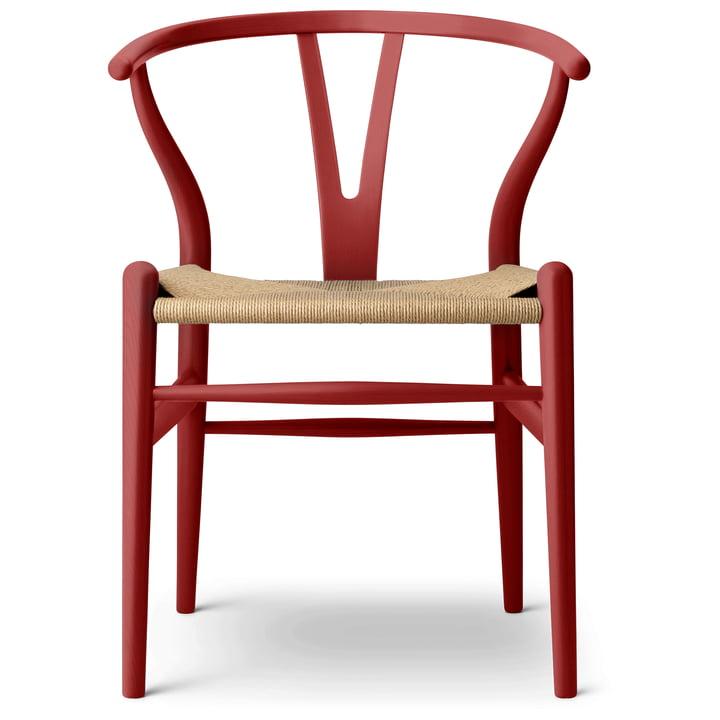 De CH24 Wishbone Chair van Carl Hansen , falu / Naturgeflecht (beperkte oplage)