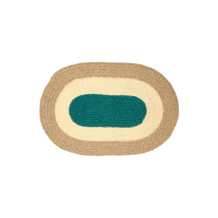 De Melooni placemat van Marimekko, jute (najaar 2021)