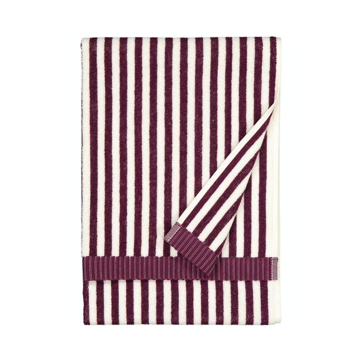 De Ujo handdoek van Marimekko, 50 x 70 cm, wit / braam