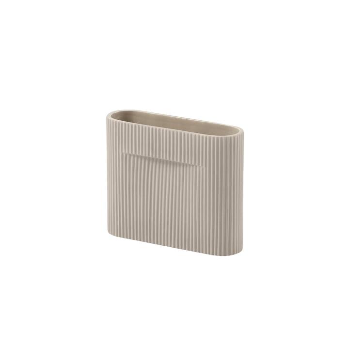 Ridge Vaas H 16,5 cm van Muuto in beige