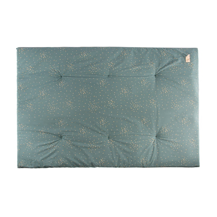 Eden Futon Speelmat 100 x 148 cm van Nobodinoz in gold confetti / magic green