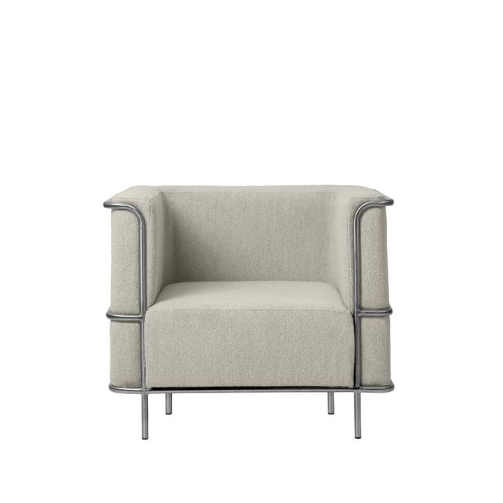 Modernist Lounge fauteuil van Kristina Dam Studio in beige (Bouclé)