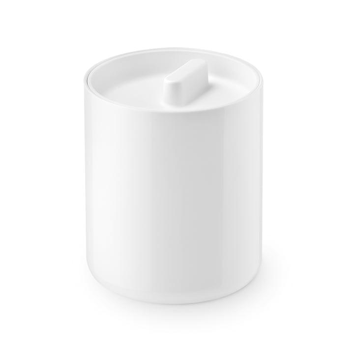Het dekselblik Lunar van Depot4Design , Ø 10 cm, wit / wit