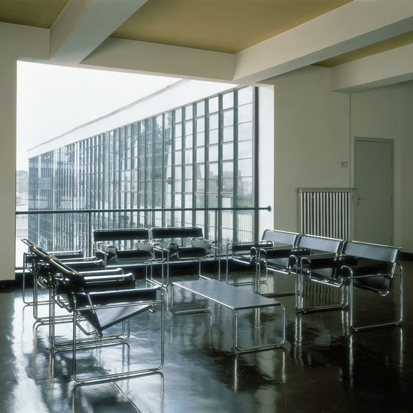 Knoll - Wassily Chair - Koehide Leer, zwart